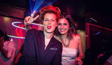 Bimba Bosé and María Reyes in Gabana Club